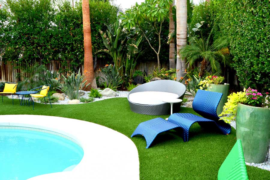 Artificial Turf Around Pool